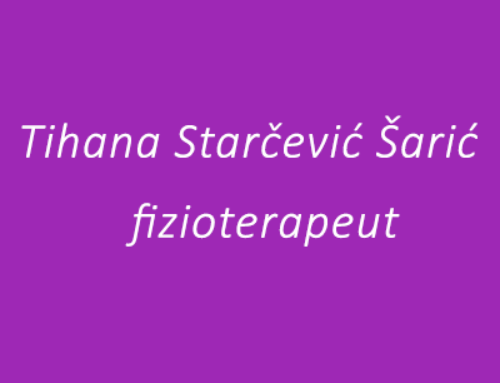 Tihana Starčević Šarić – Fizioterapeut
