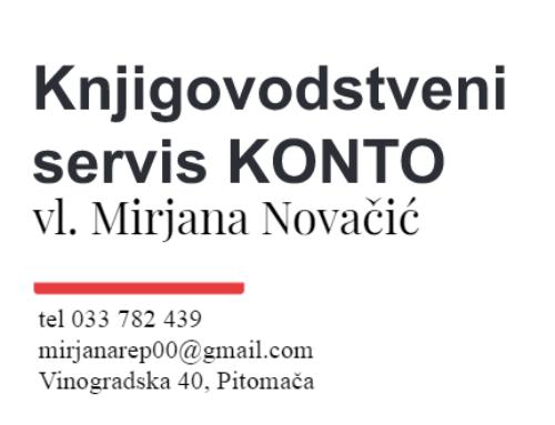 Knjigovodstveni servis KONTO